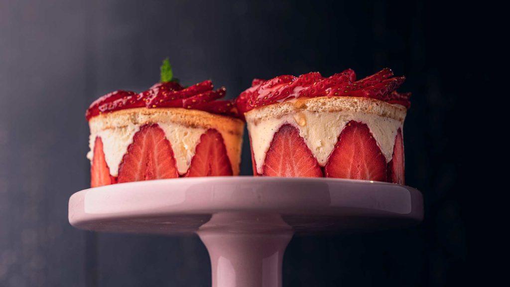 El delicioso frezier en formato individual. Una de las recetas que aprenderemos en este curso.
